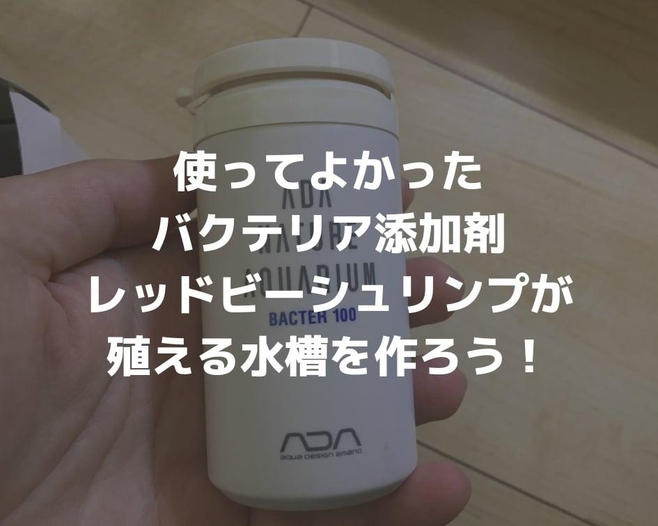 使ってよかったバクテリア添加剤:レッドビーシュリンプが殖える水槽を作ろう!