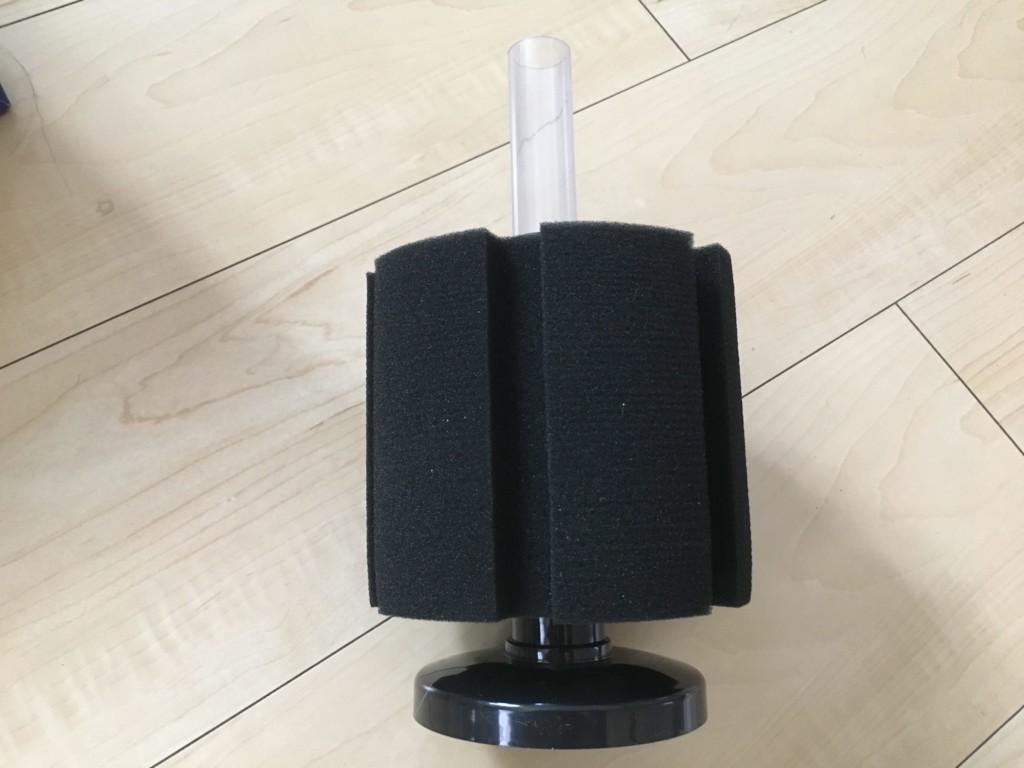 レッドビーシュリンプ水槽用にLSSスポンジフィルターを改造