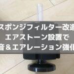 スポンジフィルター改造|エアストーン設置で静音&エアレーション強化