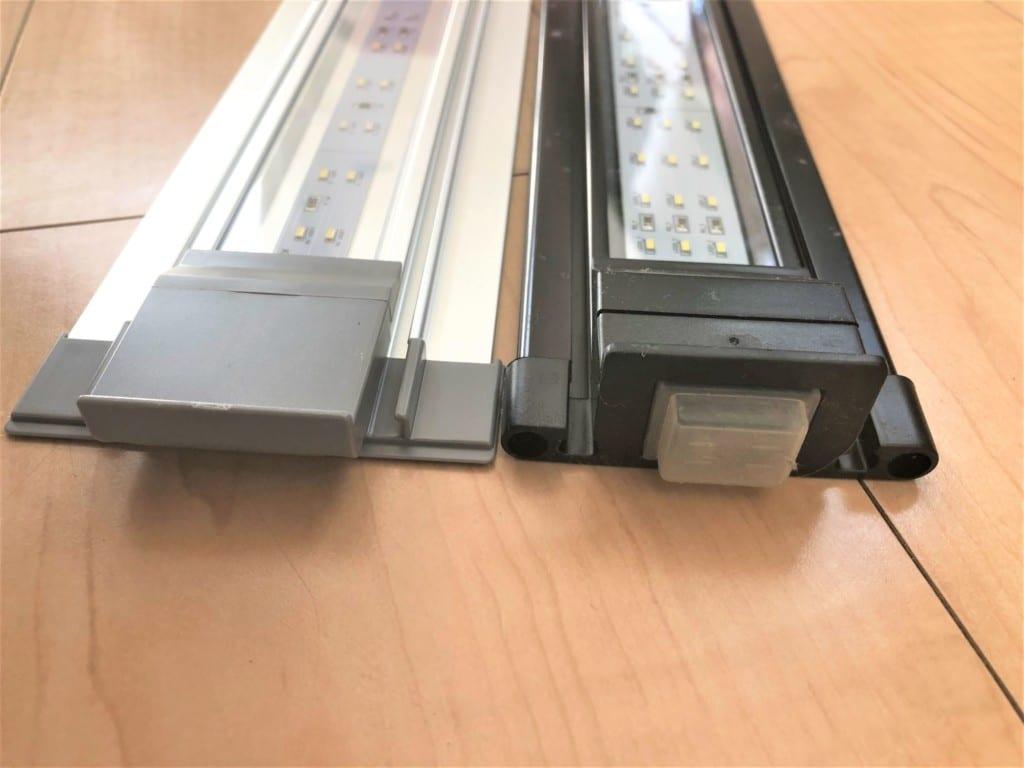 スリムLEDとフラットLED SSの厚みの比較